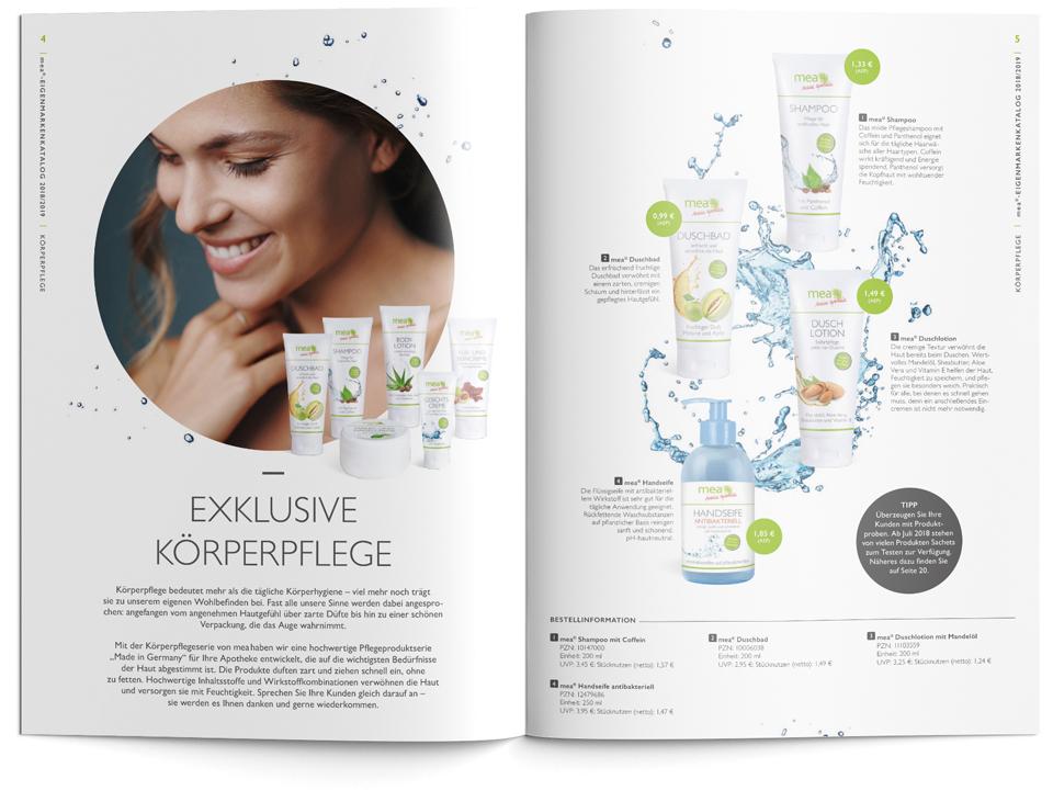 Sanacorp Eigenmarken-Broschüre