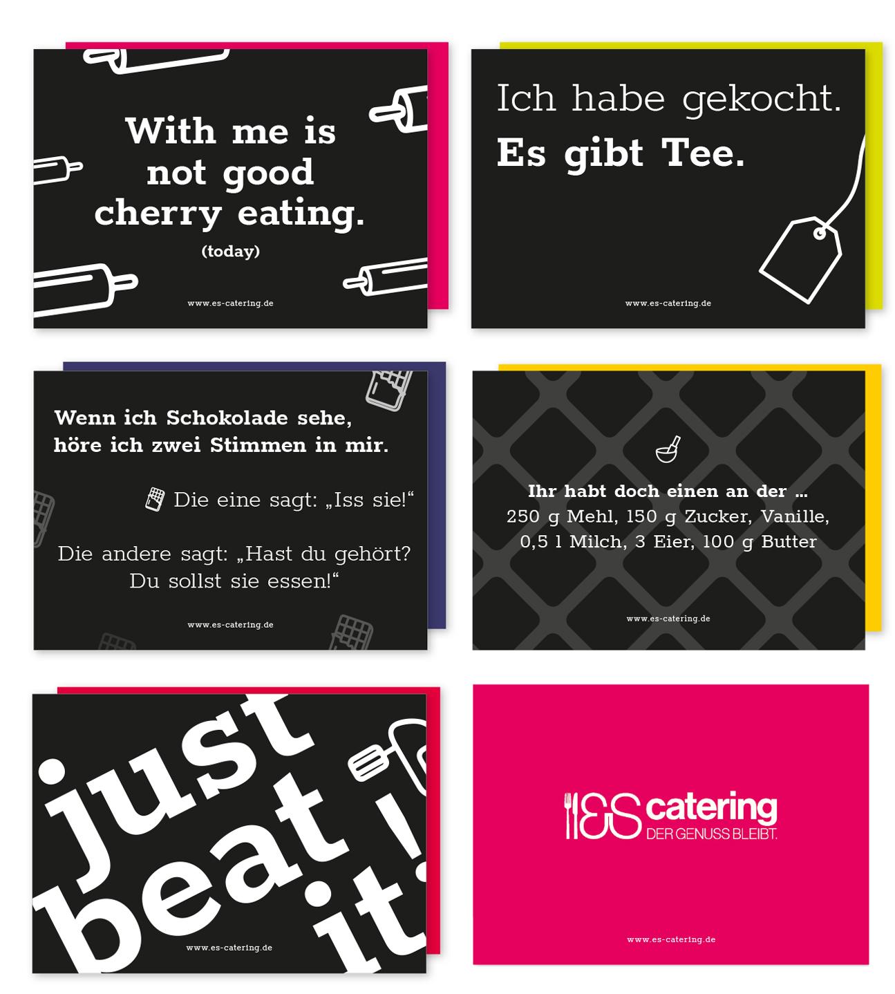es-catering postkarten