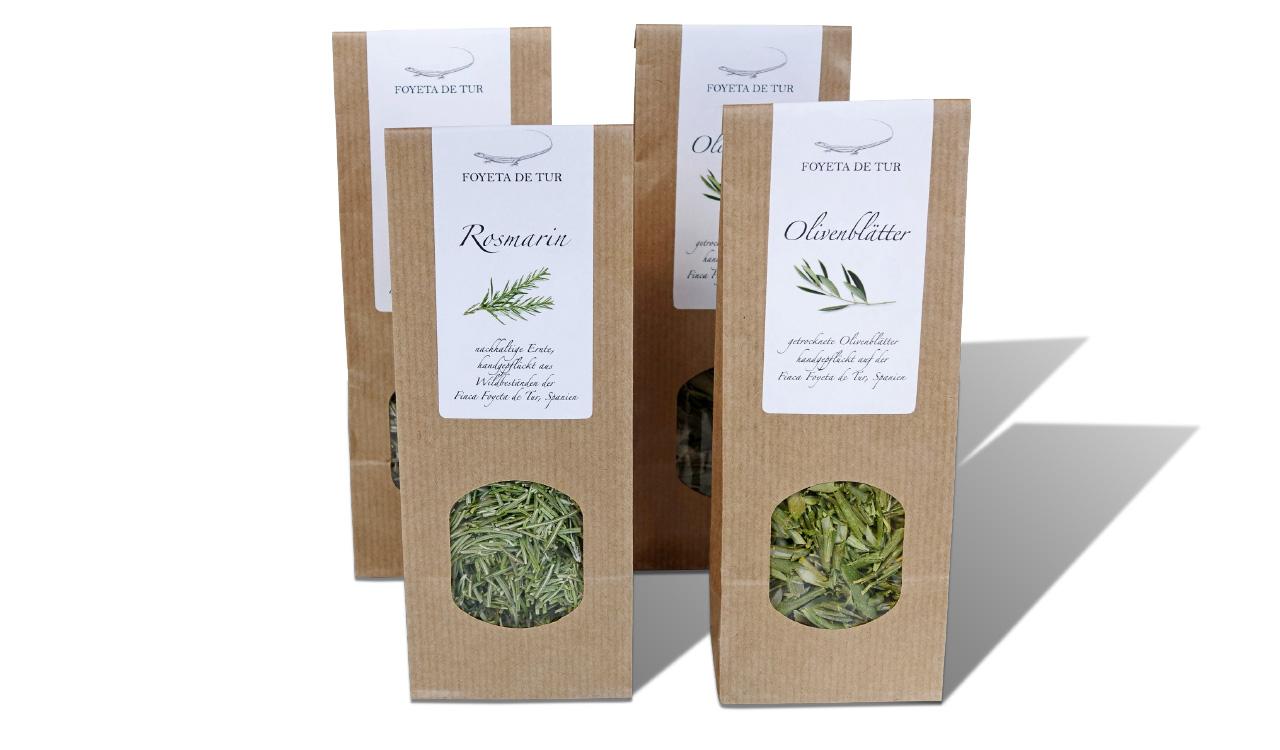 Foyata de Tur Rosmarin und Olivenblätter